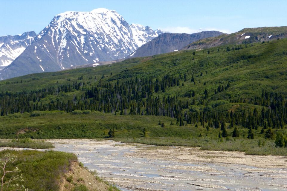 Panorama an der Haines Road, Yukon
