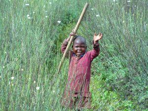 Fröhliches Kind in Ruanda