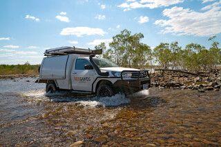 Flussdurchquerungen sind ein Kinderspiel für einen 4WD