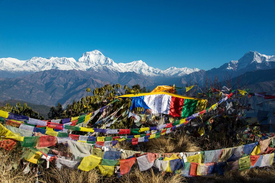 Panoramablick vom Poon Hill (3210 m)