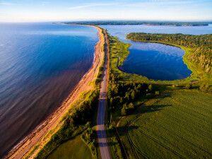 Luftansicht Panmure Island, Prince Edward Island