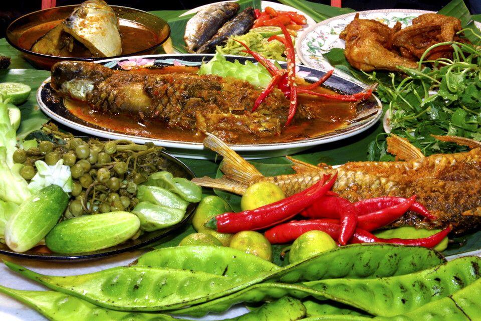 typisches Essen in Malaysia