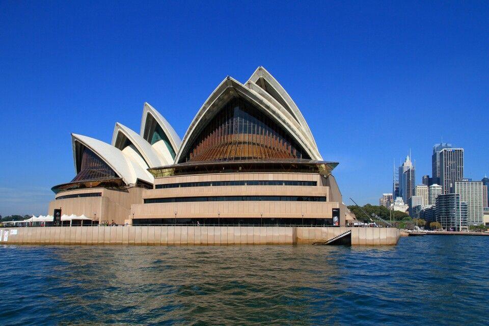 Die Rückseite des Operhauses in Sydney