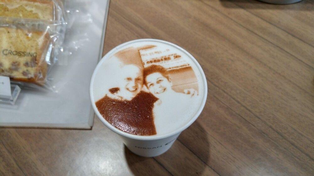 Kaffee mit digitalem Kundenfoto