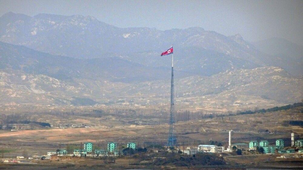 Blick nach Nordkorea