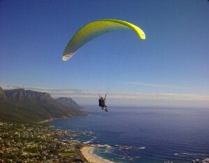 Paragliding  in Wilderness an der Garden Route