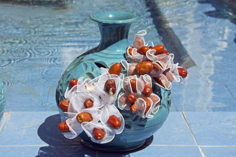 Kunstvolle Vase aus Yzad, Iran