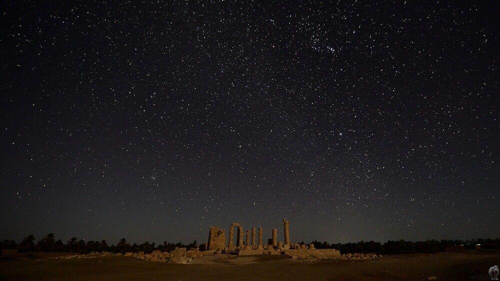20. Tempel von Soleb bei Mondschein