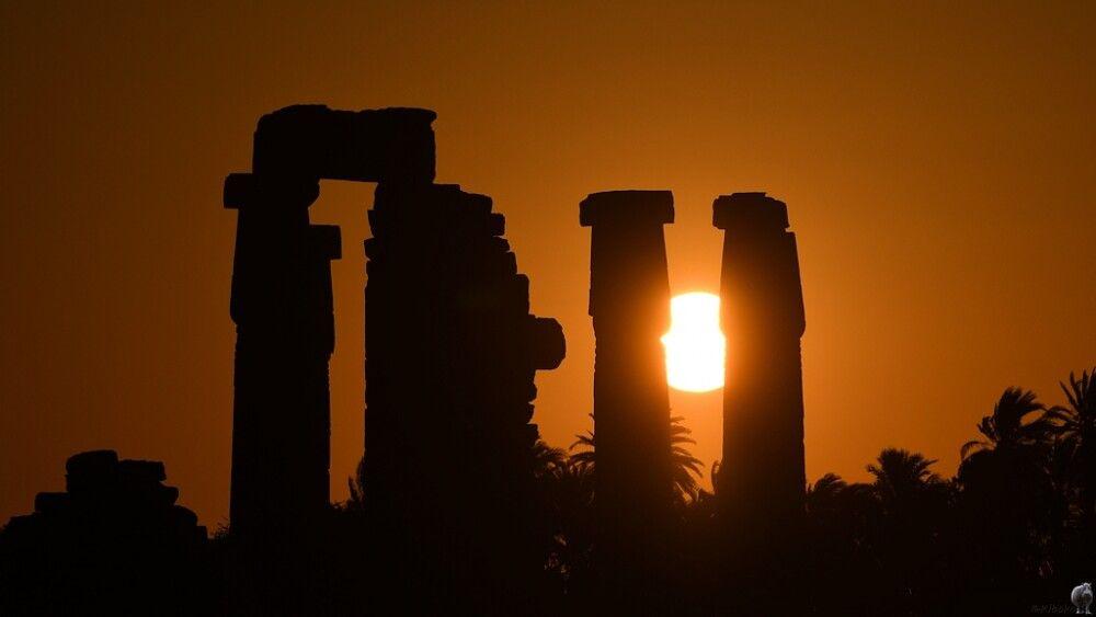 21. Sonnenaufgang Tempel von Soleb
