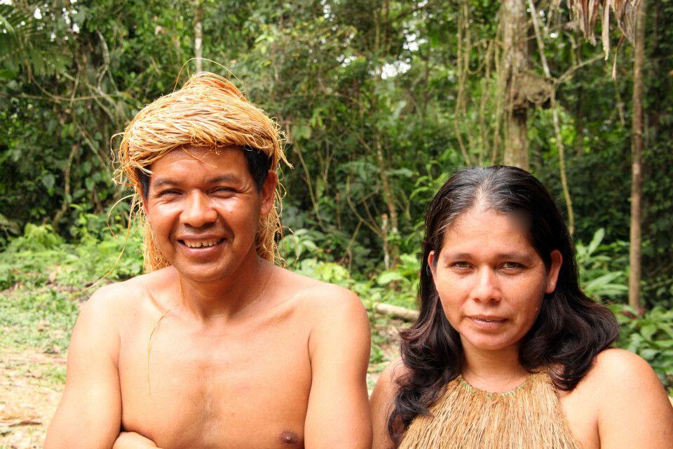 Indigene Mitglieder der Yagua Community