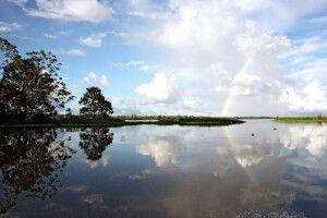 Friedliche Idylle über dem Amazonas
