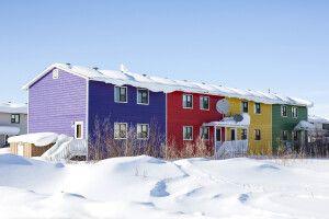 Bunte Häuser in Inuvik