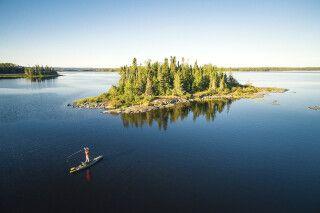Angler nahe der Miminiska Lodge