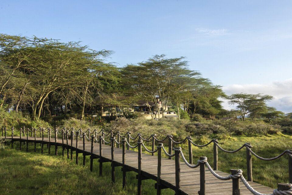 Sicht auf die Hatari Lodge