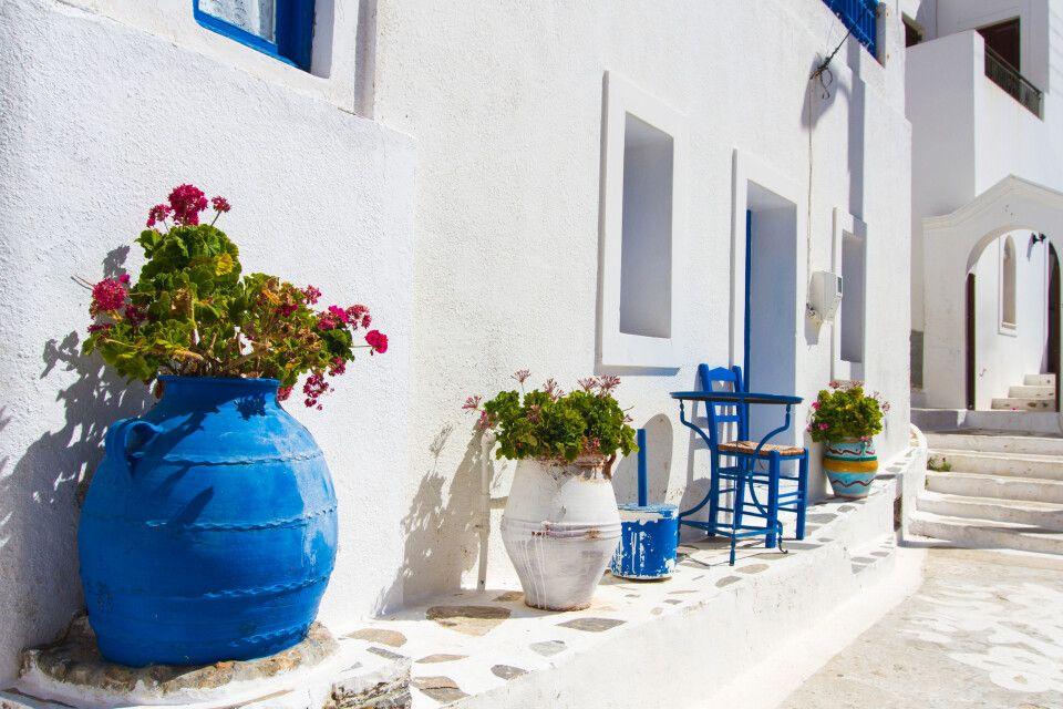 In Aegiali auf Amorgos, einer Insel der Kykladen