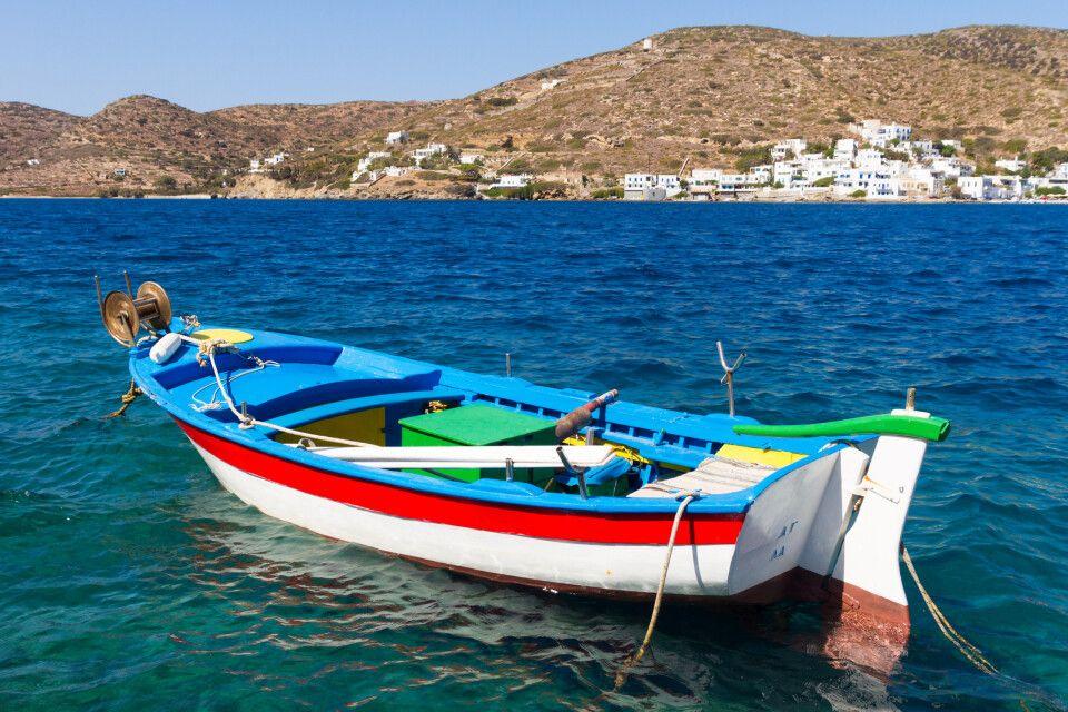 Idylle in Katapola auf Amorgos, einer Insel der Kykladen