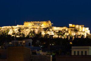 Die Akropolis in Athen seit 1986 Teil des UNESCO-Weltkulturerbes.