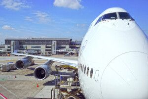 Flugzeug in Frankfurt