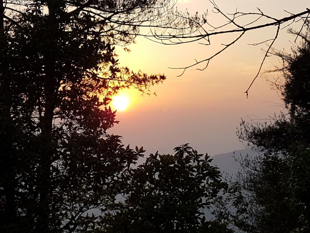 Sonnenuntergang in Nagarkot