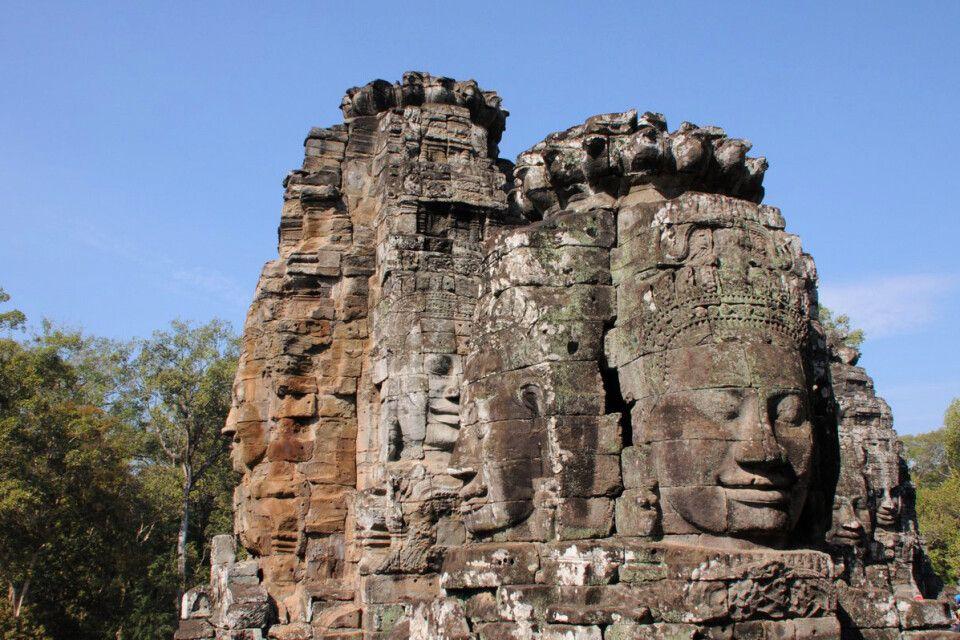 Einer der Tempeltürme den mystischen Bayon