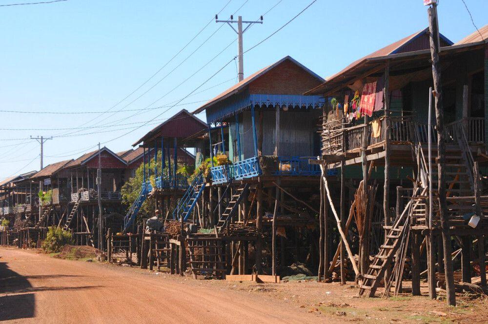 Am Tonle Sap, dem größten Süßwassersee Südostasiens