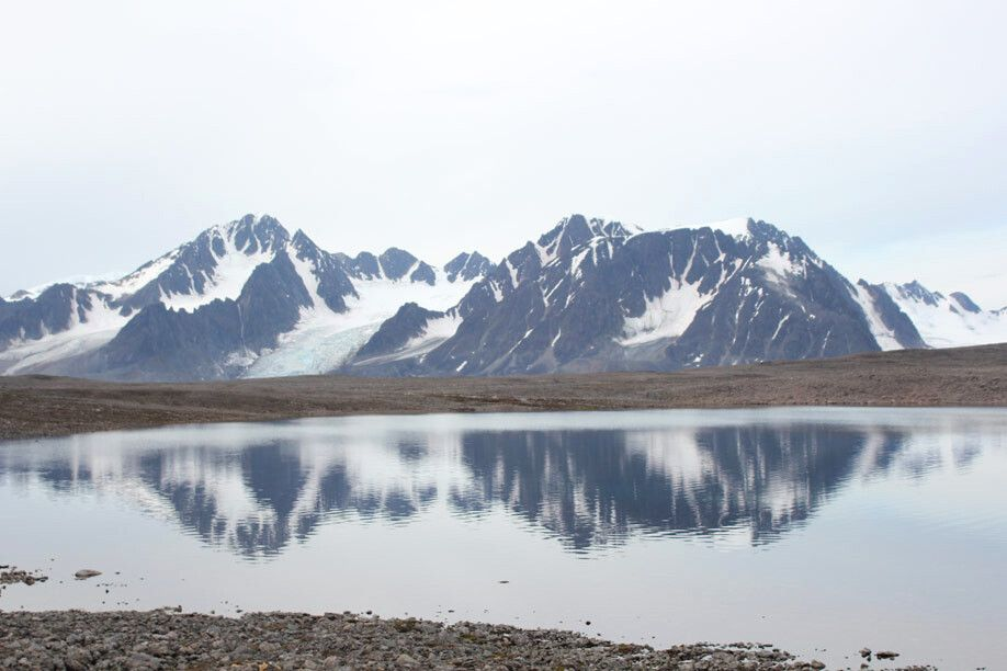 Atemberaubende Berge und Gletscher