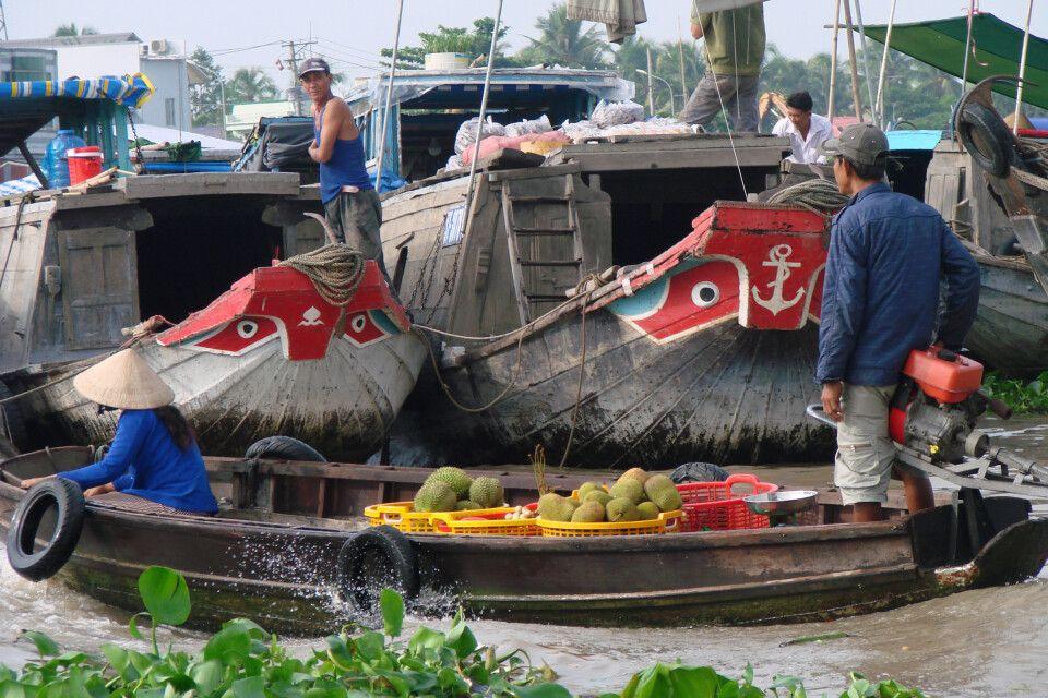 Markttreiben im Mekongdelta