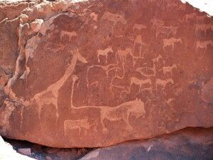 Twyfelfontein mit Steinzeichnungen