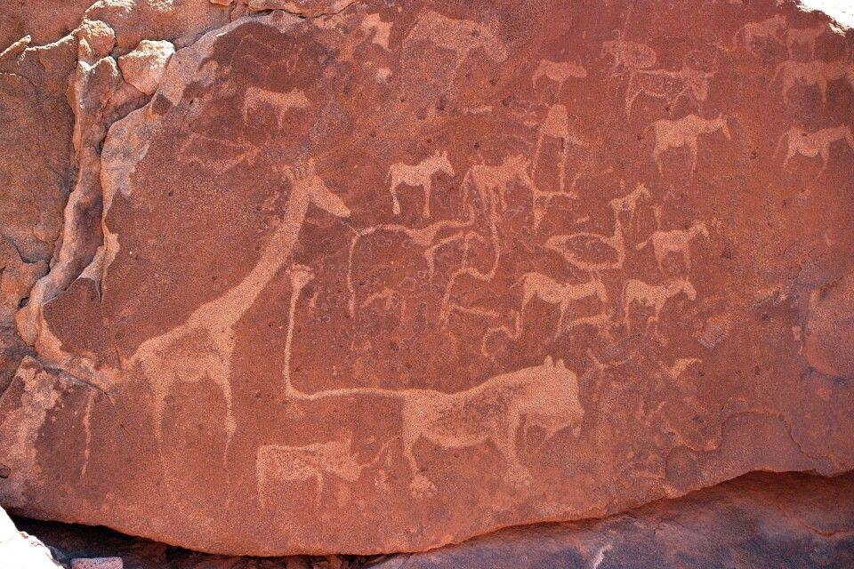Namibia, Twyfelfontein mit Steinzeichnungen