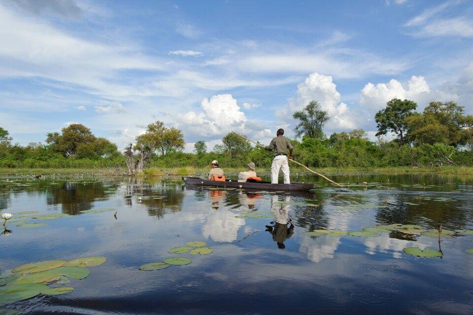 Im Mokoro durch das Okavango-Delta