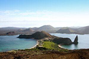 Herrlicher Ausblick auf die Insel Bartolome