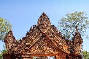 Türsturz im Tempel Bantey Srei