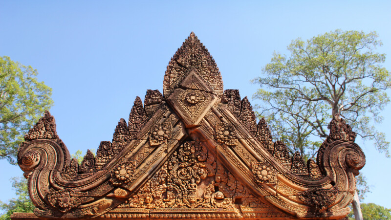 Türsturz im Tempel Bantey Srei © Diamir