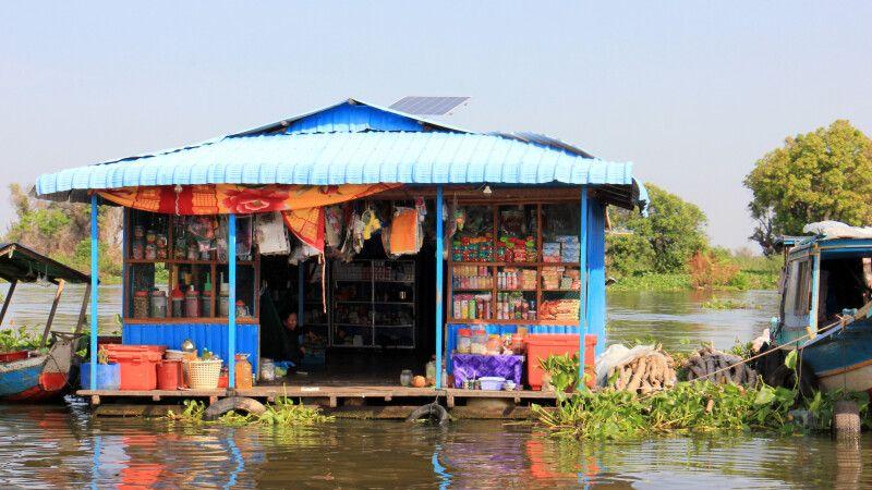 Kleiner Laden in einem schwimmenden Dorf auf dem Tonle Sap © Diamir