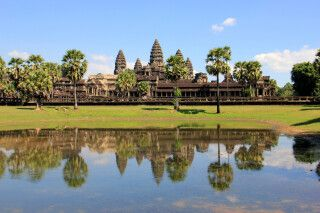 Der berühmte Tempel von Angkor Wat