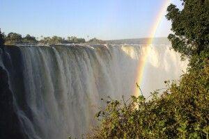 Victoriafälle von Simbabwe Seite