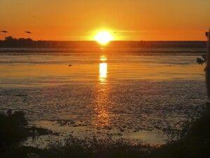 Sonnenaufgang am Chobe