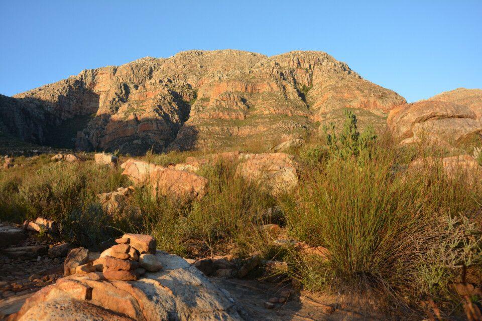 Bei einer zweistündigen Wanderung durch die Zederberge zu einem Wasserfall bestaunen wir die imposante Pflanzenwelt Südafrikas und lassen uns von den Farbspielen des Sonnenuntergangs an den Sandsteinwänden der Bergketten verzaubern. Und die gesamte Reise