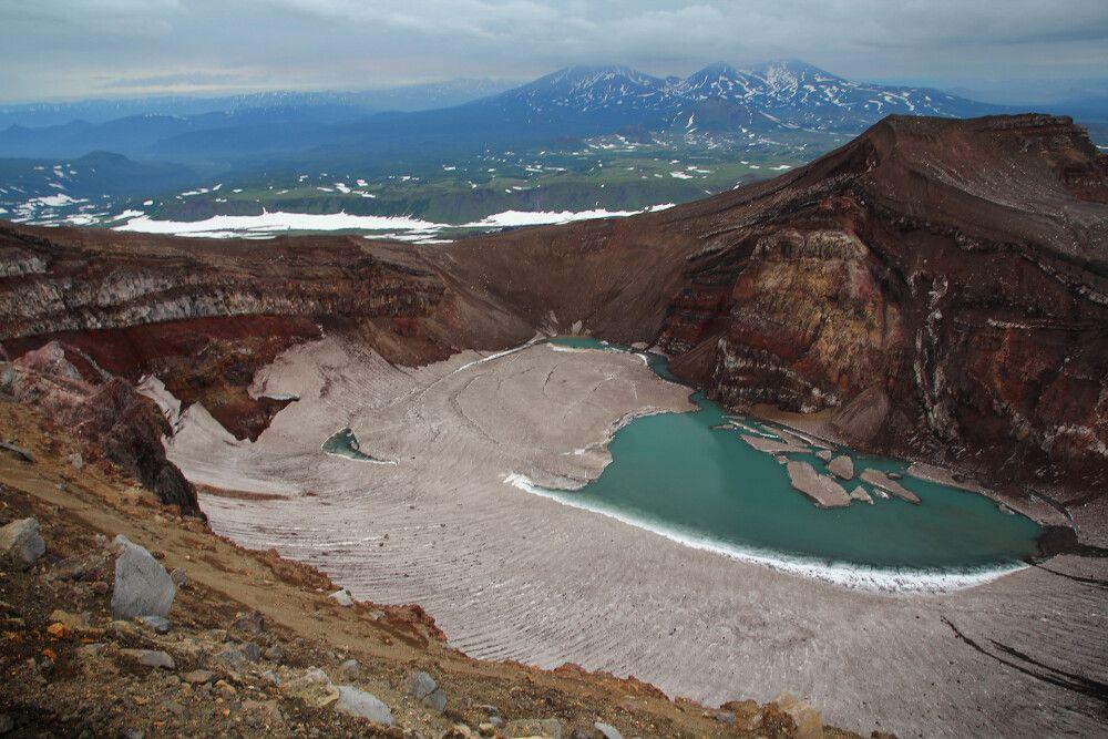 Blick ins Innere eines Vulkans