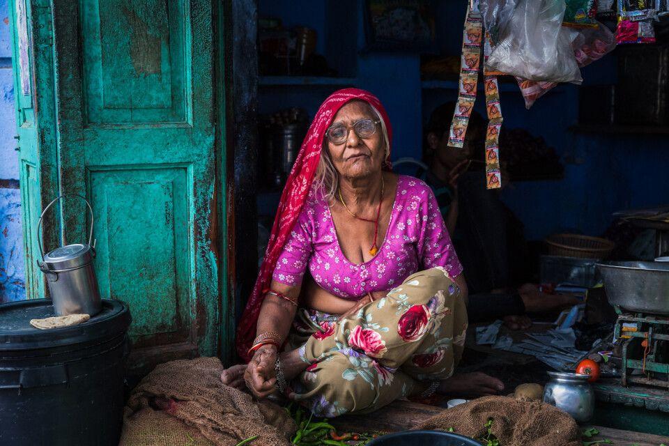 tolles Portrait in Indien