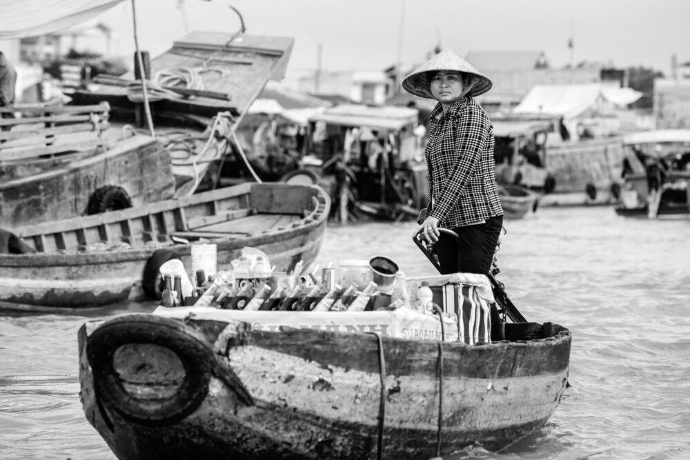 Schwimmende Märkte im Mekongdelta Vietnam
