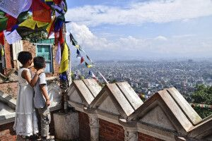 Fantastischer Blick über Kathmandu