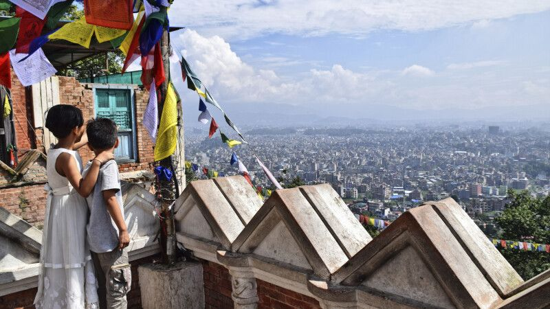 Fantastischer Blick über Kathmandu © Diamir