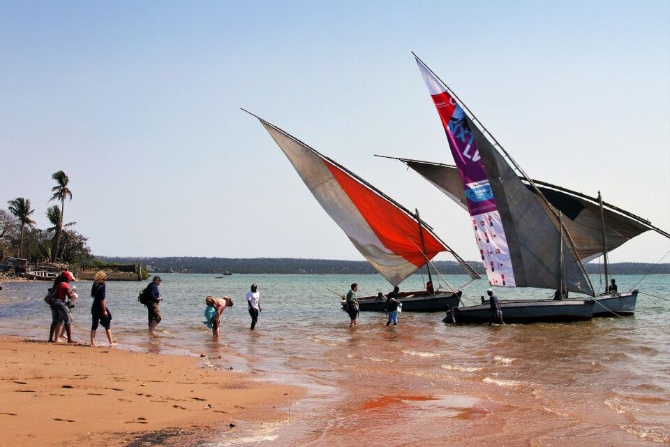 Ausflug auf traditioneller Dhau in Inhambane