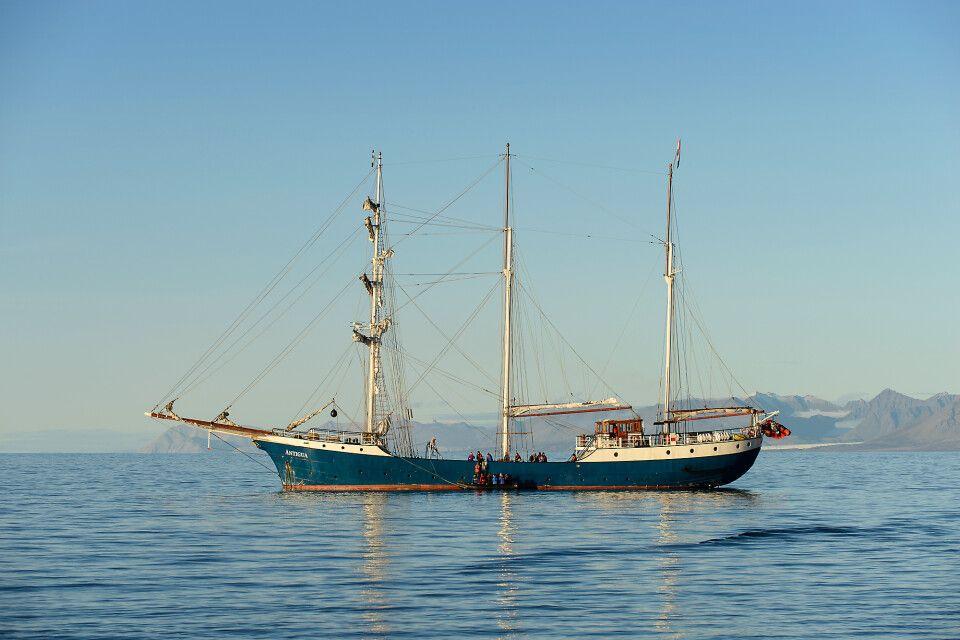 Die Antigua im Forlandsund