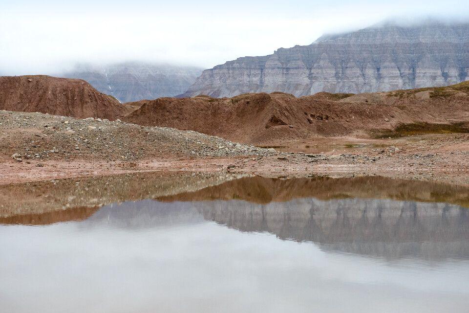 Spiegelungen im Ekmanfjord