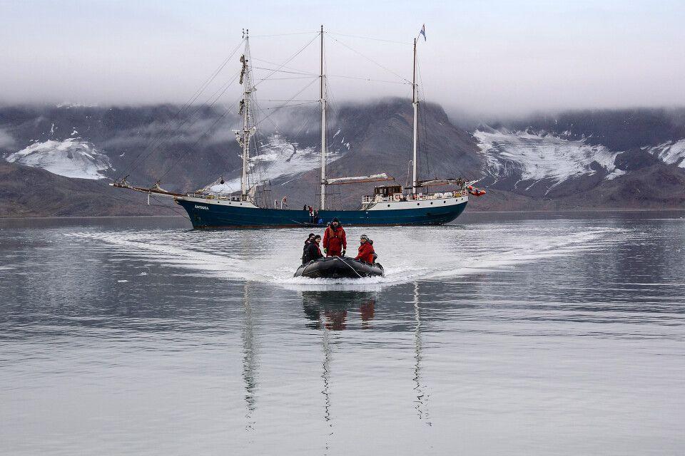 Unterwegs zur Landestelle im St. Jonsfjord