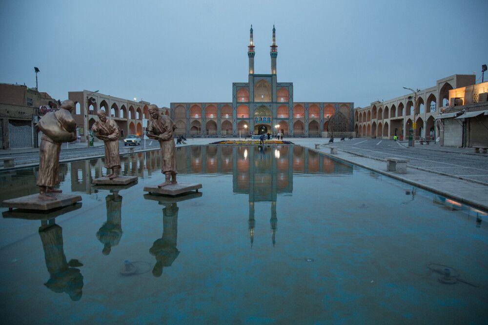 Blaue Stunde Amir Tschagmag-Platz, Yazd