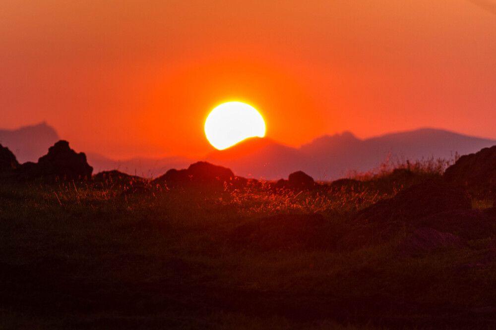 Sonnenuntergang blutrot