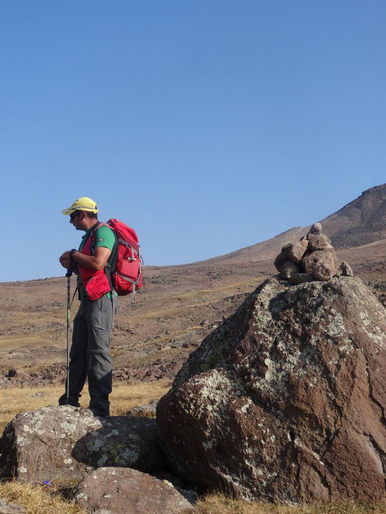 Wanderführer ruht in sich